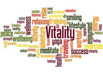 Vitality, word cloud concept 4