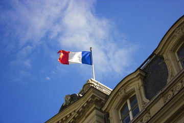 French flag waving in the air