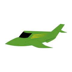 Isolated colored airplane