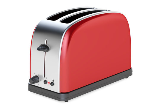 Red toaster, 3D rendering