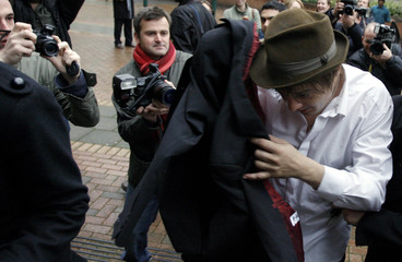 British singer Pete Doherty arrives at West London Magistrates Court in London