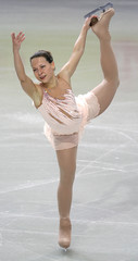 Finland's Drei performs during the women's Free Programme of the European Figure Skating Championships in Warsaw