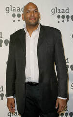 Former NBA player John Amaechi arrives to attend the 18th annual  Gay & Lesbian Alliance Against Defamation (GLAAD) award show in New York