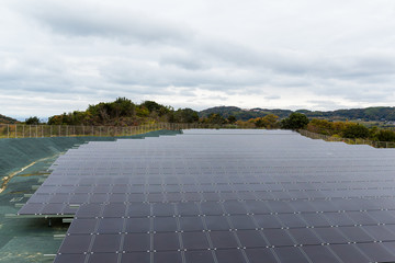 Solar panel at countryside