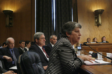 Homeland Security Secretary Napolitano testifies before Senate Homeland Security and Government Affairs hearing on Capitol Hill in Washington