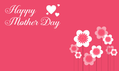 Happy mother day with flower collection