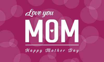 Happy mother day background style