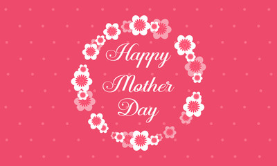 Happy mother day with flower style