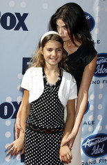 """Actress Teri Hatcher and daughter pose as they arrive for the finale of  """"American Idol"""" in Hollywood"""