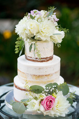 Cutsom Wedding Cake at Reception