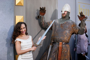 "Ballroom dancer Karina Smirnoff poses at the premiere of ""King Arthur: Legend of the Sword"" at the TCL Chinese Theatre IMAX, in Hollywood"