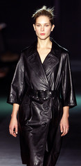 A model presents this creation by Cuban-American designer Narciso Rodriguez for fashion house Loewe ..