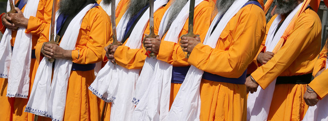 many men sikh with traditional clothes