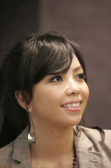 Taiwan singer A-Mei, Chang Hui-mei, speaks during an interview with Reuters in Taipei