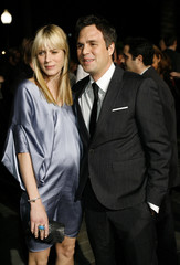 """Mark Ruffalo and his wife Sunrise pose at the premiere of """"Zodiac"""" in Hollywood"""