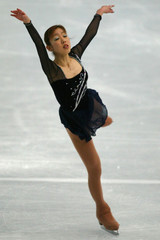 FUMIE SUGURI OF JAPAN PERFORMS AT THE WORLD FIGURE SKATINGCHAMPIONSHIPS IN NAGANO.