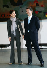 Denmark's Crown Prince Frederick and his wife Crown Princess Mary visit Museum of Modern Art.