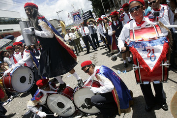 Performers take part in Independence Day parade in Tegucigalpa