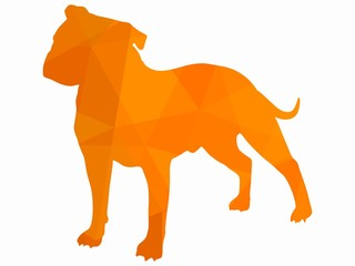 illustration of a dog, vector draw
