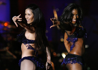 The Bombshell Babies perform during the 13th annual Race to Erase MS gala in Century City