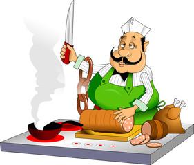 Melancholic cook