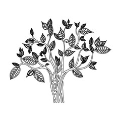 Tree natural ecology icon vector illustration graphic design