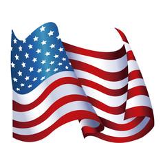 united states of america flag waving glossy symbol vector illustration
