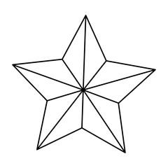 star american independence nation symbol line vector illustration