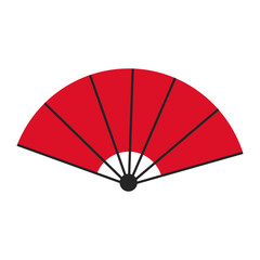 japanese fan folding ornament traditional vector illustration
