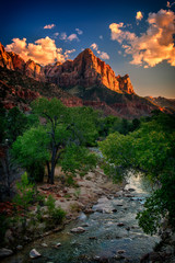 The Watchman overlooking the Virgin River in Zion National Park