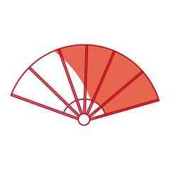 fan folding japan accessory air asian vector illustration
