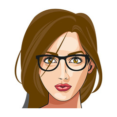beautiful woman face fashion image vector illustration