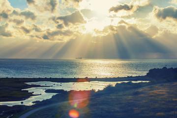 sunset on the sea ,swedish coast