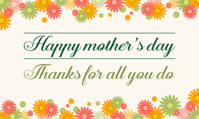 Collection stock mother day card background