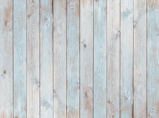 Obraz pale blue wood planks texture or background - fototapety do salonu