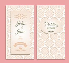 wedding invitation floral vector template
