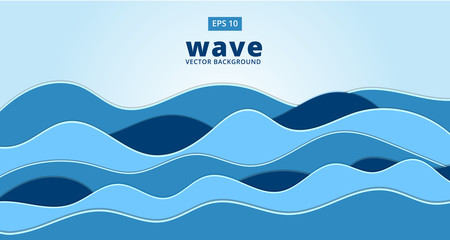 blue ocean sea wave vector background