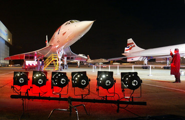 BRITISH AIRWAYS CONCORDES STAND ON THE TARMAC AFTER THEIR FINAL LANDINGAT LONDON'S HEATHROW AIRPORT.