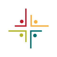 Community and People church logo. Calvary cross church logo.