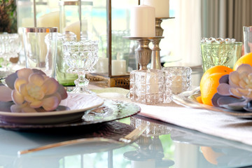 Elegant dining table setting