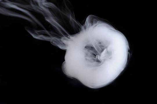 Smoke Ring on Black Background