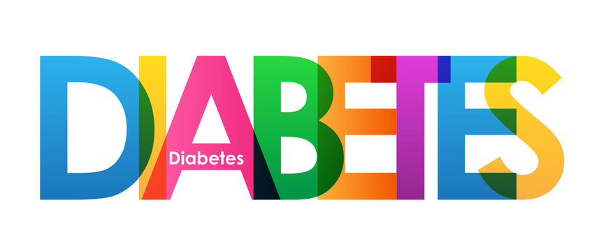 DIABETES Colourful Vector Letters Icon
