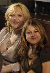 """Rock star Courtney Love and her daughter Frances Bean at the finale of Fox's """"American Idol"""" at the .."""