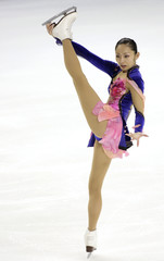 Miki Ando from Japan performs in the ladies short program at the 2008 Skate America international figure skating competition in Everett, Washington