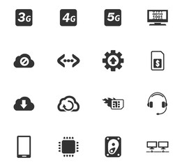 Mobile connection icons set