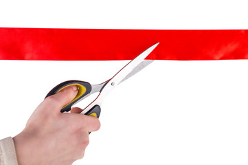 Cut the red ribbon