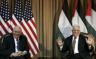 Palestinian President Abbas meets U.S. Vice President Cheney in Ramallah