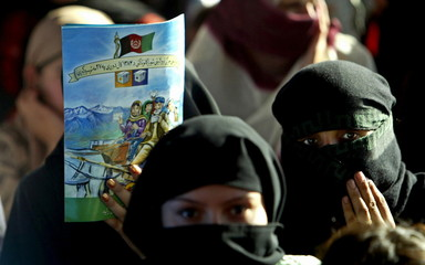 - PHOTO TAKEN 16SEP05 - Afghan women attend a concert organized by Joint Electoral Management Body (..