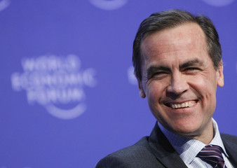 Governor of the Bank of Canada Carney attends a session at the World Economic Forum in Davos