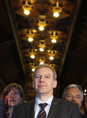 Belgium's PM Leterme attends celebrations of the Flemish community day at the Brussels' town hall